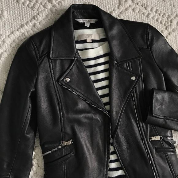 40a974a4 Zara TRF Black Genuine Leather Moto Biker Jacket. M_5a7a1868daa8f6e4dbbb4d43